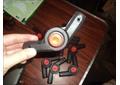 Регулятор высоты ручки санок-колясок на 16 трубу с красной кнопкой